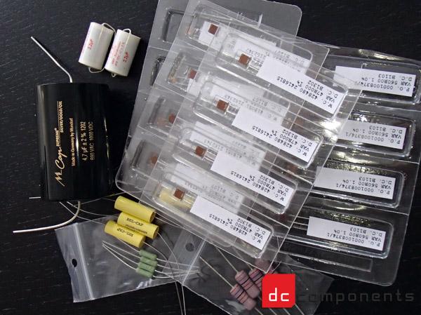 mundorf supreme, audio note tantalum, cree, vishay foil resistors